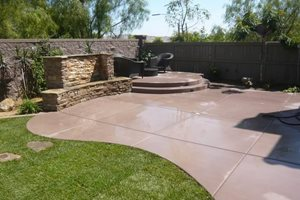 Colored Concrete Quality Living Landscape San Marcos, CA