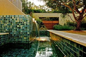 Custom Fountain, Tile Fountain Fiore Design North Hollywood, CA