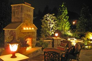 Fireplace Column Lights Rice's Landscaping Redefined Canton, OH