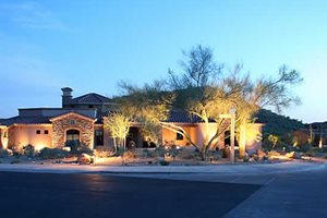 Front Yard, Landscape Lighting Alexon Design Group Gilbert, AZ