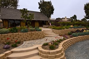 Front Yard, Retaining Walls, Block, Succulents Landscaping Network Calimesa, CA