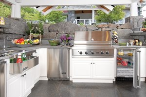 High End Outdoor Kitchen Lake Street Design Studio Petoskey, MI