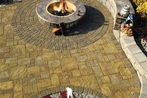 Ledgestone Pavers, Wood Burning Fire Pit Aztlan Outdoor Living Highland, NY