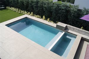 Minimalist Swimming Pool Z Freedman Landscape Design Venice, CA