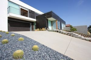 Modern Driveway Grounded Landscape Architecture and Planning Encinitas, CA