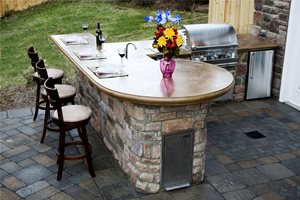 Outdoor Concrete Countertops Mid Atlantic Enterprise Inc Williamsburg, VA
