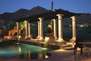Pergola, Columns, Lighting JSL Landscape LLC Sedona, AZ