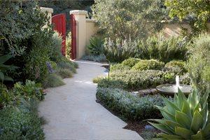 Red Garden Gate ALIDA ALDRICH LANDSCAPE DESIGN Santa Barbara, CA