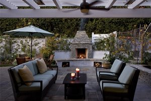 Small Backyard Fireplace Stout Design Build Los Angeles, CA