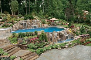 Backyard Designs With Pool delightful backyard garden ideas inside likable best backyard landscaping unique substance originality backyard pool design ideas for a hot summer lovable Luxury Backyard Poolscape