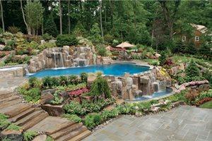 Swimming Pool Waterfalls Cipriano Landscape Design Mahwah, NJ