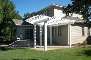 White Patio Cover Signature Landscapes Inc. Fargo, ND