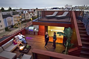 Rooftop Deck Sustainable Rooftop Studio Peek Ancona San Francisco, CA