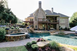 Backyard Retreat Ideas modern Canton Backyard Backyard Pool Swimming Pool Miller Landscape Woodstock Ga