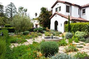 Drought Resistant Front Garden Swimming Pool Joseph Marek Landscape Architecture Santa Monica, CA