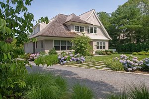 Front Yard Landscaping With Hydrangeas Swimming Pool Barry Block Landscape Design & Contracting East Moriches, NY