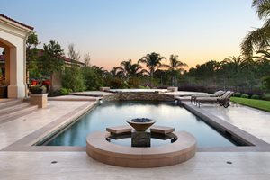 High End Pool Design Swimming Pool Urban Landscape Inc. Newport Beach, CA