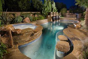 Luxury Pool Swimming Pool Alderete Pools Inc. San Clemente, CA