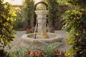 Outdoor Fountain, Garden Fountain Swimming Pool Studio H Landscape Architecture Newport Beach, CA