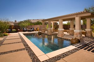 Poolside Pergola Swimming Pool Bianchi Design Scottsdale, AZ