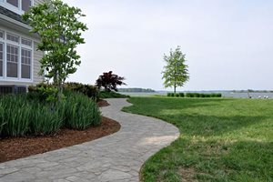 Stone Paver Path, Winding Walkway Swimming Pool StoneScapes Design Hanover, MD