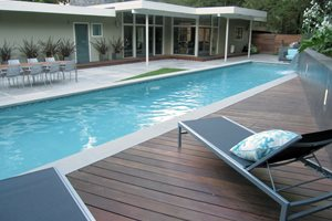 Wood Pool Deck Swimming Pool Shades of Green Landscape Architecture Sausalito, CA