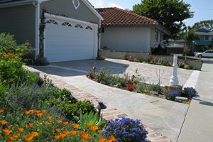 Xeriscape Driveway Plantings Swimming Pool Creations Landscape Design Tustin, CA