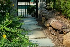 Casual, Walkway, Flagstone Walkway and Path Sisson Landscapes Great Falls, VA