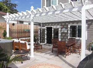 freestanding wood patio cover