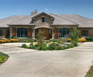 Circle Drive Front Yard Landscaping Accent Landscapes Colorado Springs, CO