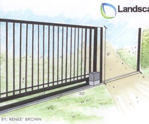 Sliding Gate Drawing Gates and Fencing Landscaping Network Calimesa, CA
