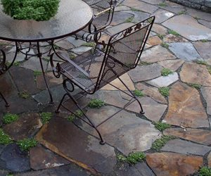 Brown Flagstone, Flagstone Patio