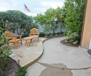 Small Patio, Small Backyard, Concrete Patio Patio DC West Construction Inc. Carlsbad, CA