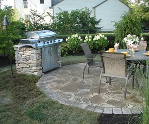 Stone Grill Patio S.A.T. Landscape Services Columbus, OH