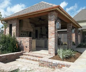 Brick Ramada, Brick Columns, Brick Steps Pergola and Patio Cover Angelo's Lawn-Scape Of Louisiana Inc Baton Rouge, LA