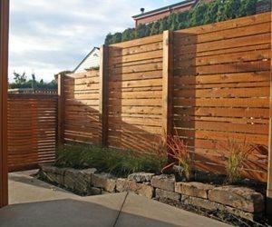 Contemporary Fence Design Banyon Tree Design Studio Seattle, WA