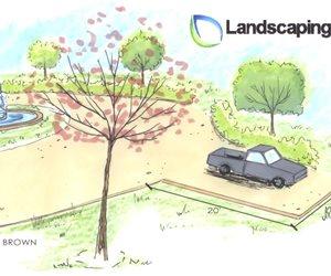 Driveway Drawing Landscaping Network Calimesa, CA