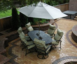Entertaining, Patio, Clay Paver, Small Arcadia Design Group Centennial, CO