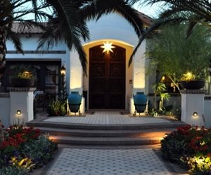Front Door Lighting, Front Door Landscaping Exteriors By Chad Robert, Inc.  Phoenix,