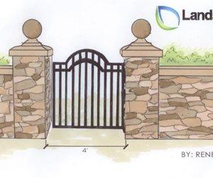 Gate Drawing Landscaping Network Calimesa, CA