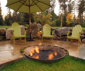 Recycled Fire Pit Swimming Pool Copper Creek Landscaping, Inc. Mead, WA