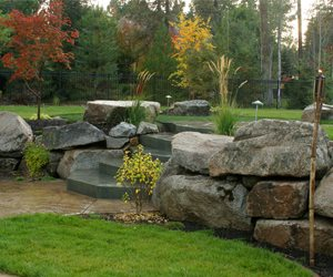 Boulder Landscape Wall Walkway and Path Copper Creek Landscaping, Inc. Mead, WA