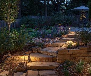 Path Lights, Stone Steps Walkway and Path McKay Landscape Lighting Omaha, NE