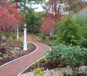Curved Brick Path Fieldstone Design Leominster, MA