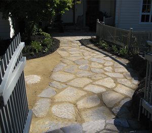 Flagstone And Decomposed Granite Dig Your Garden Landscape Design San Anselmo, CA