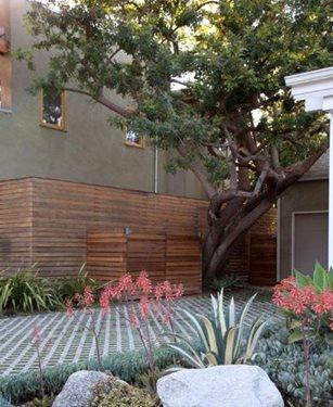 Grass Driveway, Permeable Driveway Gabriela Yariv Landscape Design Santa Monica, CA