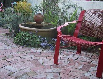 Custom Brick Work, Brick Design, Brick Inlay Brick Patio Grace Design  Associates Santa Barbara