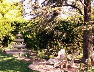 Small Brick Patio, Circle Patio Brick Patio Grace Design Associates Santa  Barbara, CA