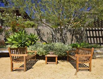 gravel benches succulents california garden tours landscaping network calimesa ca - California Garden