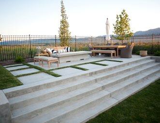 concrete patio concrete stairs concrete fire pit concrete patio ag trac enterprises logan - Concrete Patio Designs